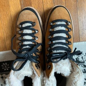 Urban Outfitters Shearling Sherpa Hiker Boot